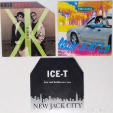 """Discos de vinilo: [[ LOTE 7"""" 45RPM ]] ICE-T -NEW JACK CITY / VANILLA ICE -ROLLIN´IN MY 5.0 / KRIS KROSS -JUMP RAP 1990. Lote 207880756"""