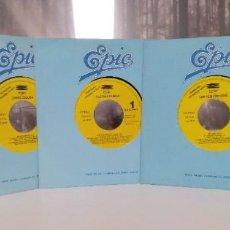 """Discos de vinilo: [[LOTE 10 SINGLES EPIC]] THE TEMPTATIONS / LIVING COLOUR / EUROPE/ GLORIA ESTEFAN [VINILO 7"""" 45RPM]. Lote 207887235"""