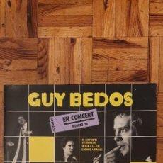 Discos de vinilo: GUY BEDOS EN CONCERT BOBINO 78 - LP. Lote 207893918