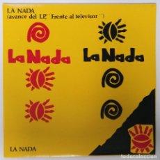 """Discos de vinilo: LA NADA -LA NADA [[EXCLUSIVO RARO Y DIFÍCIL DE CONSEGUIR]] POP ROCK CANARIO [[ VINILO 7"""" 45RPM ]]. Lote 207960281"""