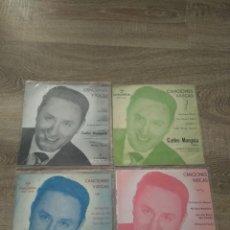 Discos de vinilo: CARLOS MUNGUIA LOTE 4 EPS 45 RPM / COLUMBIA EUSKARAZ. Lote 207983916