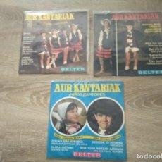 Discos de vinilo: AUR KANTARIAK NIÑOS CANTORES LOTE 3 EP 45 RPM / BELTER EUSKARAZ. Lote 207985030