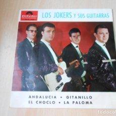 Discos de vinilo: JOKERS, THE, EP, ANDALUCIA + 3, AÑO 1964. Lote 207992723