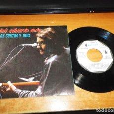 Discos de vinilo: LUIS EDUARDO AUTE LAS CUATRO Y DIEZ SINGLE VINILO PROMO DEL AÑO 1983 MOVIEPLAY 2 TEMAS MUY RARO. Lote 207996622