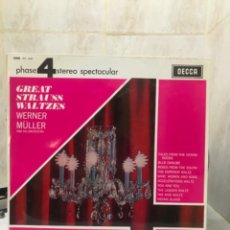 Dischi in vinile: GREAT STRAUSS WALTZES WERNER MULLER AND HIS ORCHESTRA D-CLASICA LP VINILO. Lote 208026278