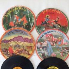Discos de vinilo: LOTE DE 6 DISCOS INFANTILES DE 78 REVOLUCIONES. Lote 208039007