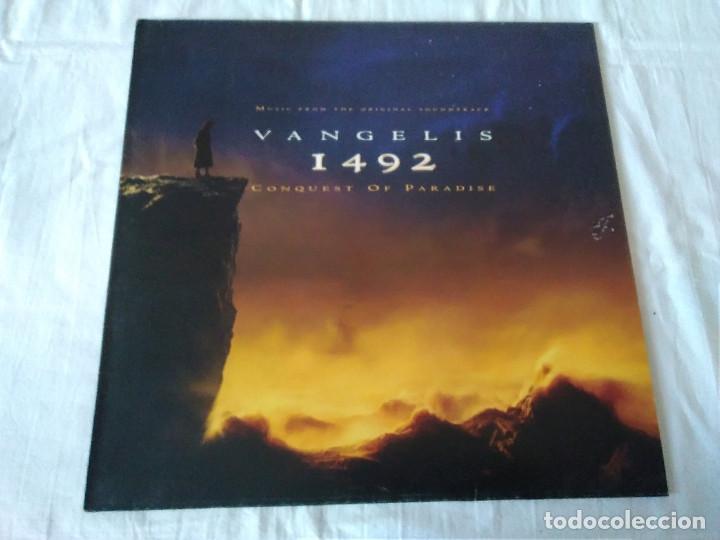 58-LP VANGELIS, 1492 THE CONQUEST OF PARADISE, 1992 (Música - Discos - LP Vinilo - Bandas Sonoras y Música de Actores )