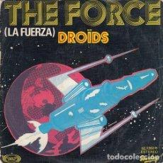 Discos de vinilo: DROIDS - EX EGG - THE FORCE - SINGLE DE VINILO EDICION ESPAÑOLA ELECTRONICA DISCO #. Lote 208048238