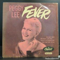 Discos de vinilo: PEGGY LEE EP FEVER 1958. Lote 208068665