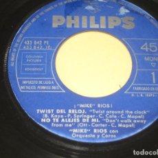 Discos de vinilo: MIKE RIOS - EL TWIST DEL RELOJ - SOLO VINILO. Lote 208078290