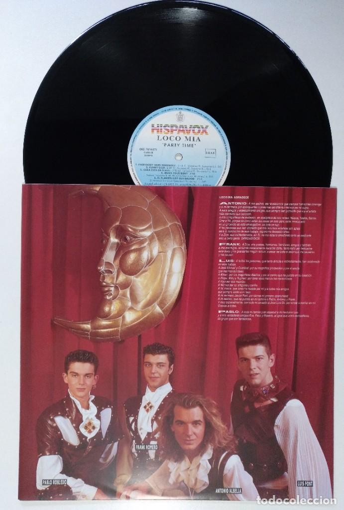 """Discos de vinilo: LOCO MIA - PARTY TIME (LP DE 8 TEMAS) [EXCLUSIVO DIFÍCIL DE CONSEGUIR] [ VINILO LP 12"""" 33RPM ] 1993 - Foto 2 - 208079028"""