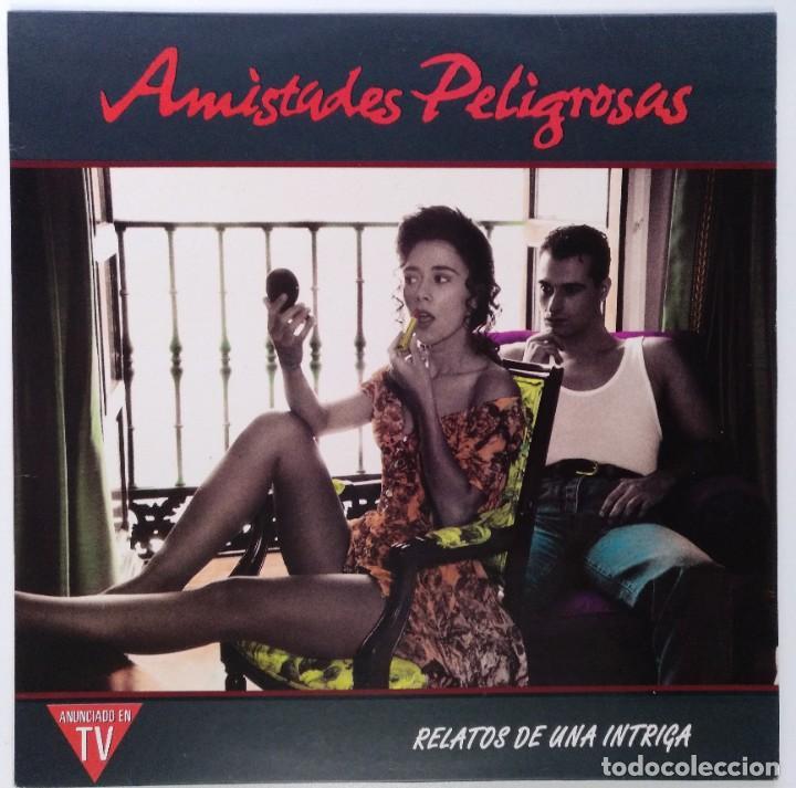 """AMISTADES PELIGROSAS -RELATOS DE UNA INTRIGA [ VINILO LP 12"""" 33RPM ] (LP DE 10 TEMAS) ] 1991 (Música - Discos - LP Vinilo - Grupos Españoles de los 90 a la actualidad)"""