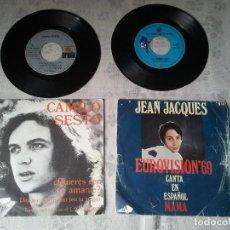 Discos de vinilo: DOS DISCOS DE VINILO ANTIGUOS DE CAMILO SESTO Y DE JEAN JACQUES EUROVISION 1969. Lote 208094562