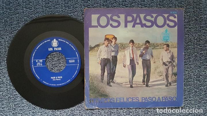Discos de vinilo: Los Pasos - Tiempos felices / Paso a paso. editado por Hispavox. año 1.966 - Foto 2 - 208105883