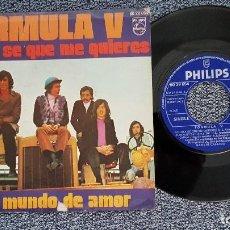 Discos de vinilo: FORMULA V - AHORA SE QUE ME QUIERES / UN MUNDO DE AMOR. EDITADO POR PHILIPS. AÑO 1.971. Lote 208106335