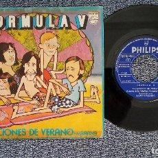 Discos de vinilo: FORMULA V - VACACIONES DE VERANO / MAÑANA. EDITADO POR PHILIPS. AÑO 1.972. Lote 208106616