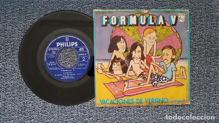 Discos de vinilo: Formula V - Vacaciones de verano / Mañana. editado por Philips. año 1.972 - Foto 2 - 208106616