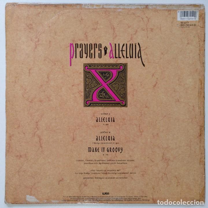 "Discos de vinilo: PRAYERS - ALLELUIA / MAKE IT GROOVY [[[ VINILO MX 12"" 45RPM ]]] [[ 1990 ]] - Foto 2 - 208106985"