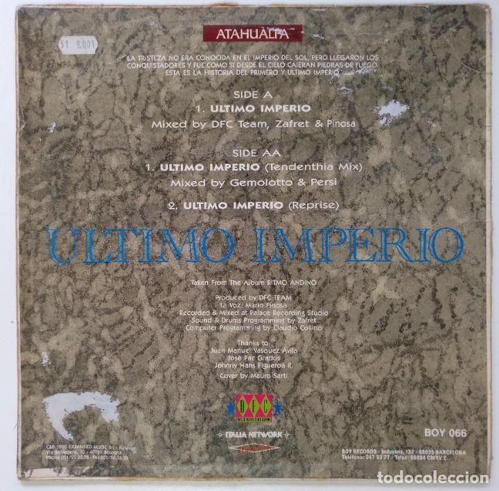 "Discos de vinilo: ATAHUALPA - ULTIMO IMPERIO [[VINILO ITALY NETWORK DFC 12"" 45RPM]] [1990] DANCE FLOOR CORPORATION - Foto 2 - 237462630"