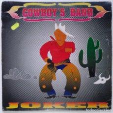 """Discos de vinilo: JOCKER - COWBOY´S BAND [EXCLUSIVO Y DIFÍCIL DE CONSEGUIR] MAKINA / TECHNO [VALENCIA 12"""" 45RPM] 1993. Lote 208127066"""