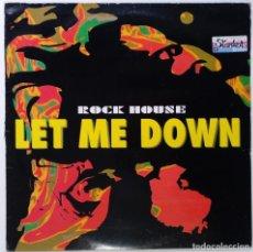 "Discos de vinilo: ROCK HOUSE - LET ME DOWN [ITALY ELECTRONIC ITALODANCE DIFÍCIL DE CONSEGUIR] [ITALY 12"" 45RPM] 1993. Lote 208131296"