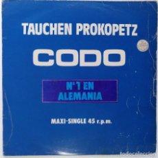 """Discos de vinilo: TAUCHEN PROKOPETZ -CODO / ANKA [ELECTRONIC / POP / SYNTH POP] [[Nº1 EN ALEMANIA] [MX 12"""" 45RPM] 1983. Lote 208135381"""