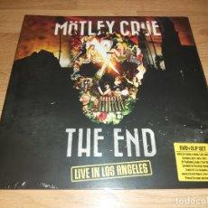 Discos de vinilo: MOTLEY CRUE 2 LP + DVD THE END 2015- KISS-GUNS'N'ROSES-IRON MAIDEN-WASP-PRETTY BOY FLOYD. Lote 208155083