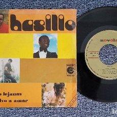 Discos de vinilo: BASILIO - TIERRAS LEJANAS / NO VUELVO A AMAR. EDITADO POR ZAFIRO. AÑO 1.971. Lote 208155568