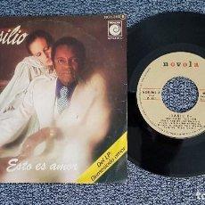 Discos de vinilo: BASILIO - CISNE CUELLO NEGRO / ESTO ES AMOR. EDITADO POR ZAFIRO. AÑO 1.977. Lote 208155725