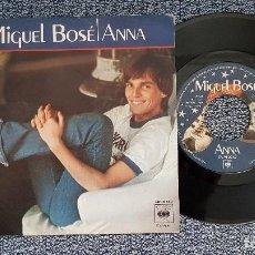 Discos de vinilo: MIGUEL BOSÉ - ANNA / EL JUEGO DEL AMOR. EDITADO POR CBS. AÑO 1.978. Lote 208156305
