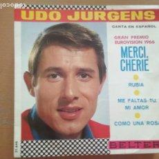 Discos de vinilo: UDO JURGENS MERCI CHERIE EUROVISION 1966 EP SPAIN 1966. Lote 208161767