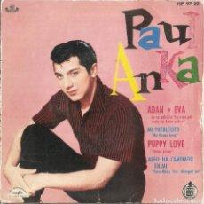 Discos de vinilo: PAUL ANKA - ADAN Y EVA/MI PUEBLECITO/PUPPY LOVE/ALGO HA CAMBIADO EN MI (EP ESPAÑOL, ABC 1960). Lote 208167780