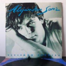 Discos de vinilo: ALEJANDRO SANZ. VIVIENDO DEPRISA. 1991. WEA. MADE IN GERMANY.. Lote 208169958