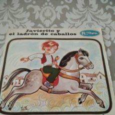 Discos de vinilo: DISCO DE VINILO CUENTO JAVIERITO Y EL LADRON DE CABALLOS. Lote 208171258