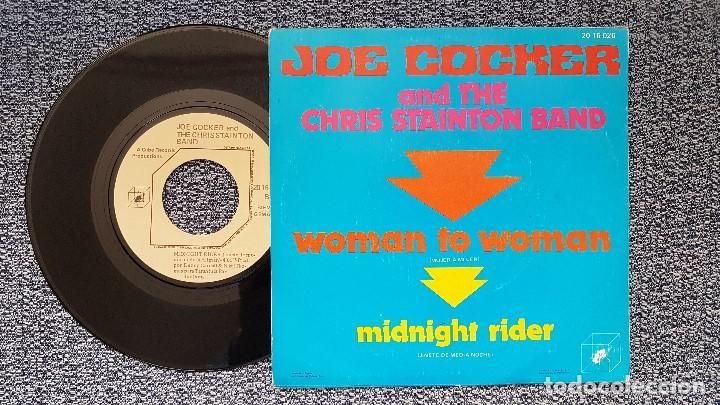 Discos de vinilo: Joe Cocker and the Chris Stainton Band-Woman to woman / Midnight rider. editado por Polydor.año1.972 - Foto 2 - 208171858