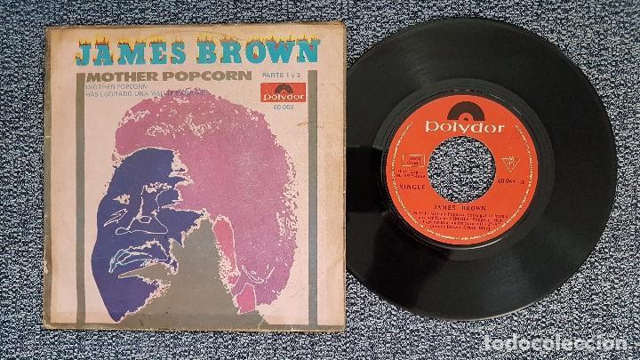 JAMES BROWN - MOTHER POPCORN 1 PARTE Y 2 PARTE. EDITADO POR POLYDOR. AÑO 1.969 (Música - Discos - Singles Vinilo - Funk, Soul y Black Music)