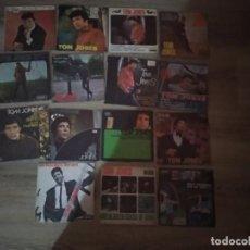 Discos de vinilo: TOM JONES LOTE 6 EP +9 SINGLE 45 RPM / DECCA SPAIN ESPAÑA AÑOS 60. Lote 208190261