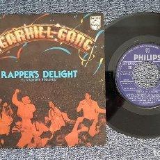 Discos de vinilo: SUGARHILL GANG - RAPPER´S DELIGHT / RAPPER´S DELIGHT (VERSIÓN LARGA). AÑO 1.979. EDITADO POR PHILIPS. Lote 208195173