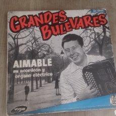 Discos de vinilo: VINILO CANCIONES BULEVARES.. Lote 208200517