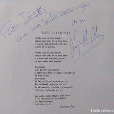 "Discos de vinilo: AMOR DE MADRE -BOCHORNO [AUTÓGRAFO DEL ESCRITOR Y POETA LEOPOLDO ALAS] [MX 12"" 45RPM] 1992. Lote 208200610"