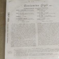 Discos de vinilo: VINILO BENIAMINO GIGLI.. Lote 208200622