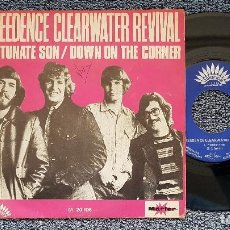 Discos de vinilo: CREEDENCE CLEARWATER REVIVAL - FORTUNATE SON / DOWN ON THE CORNER. EDITADO POR MARFER. AÑO 1.969. Lote 208224761