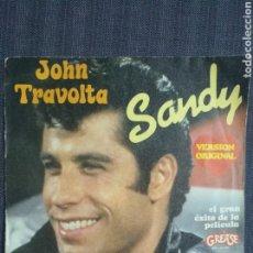 Discos de vinilo: JOHN TRAVOLTA SANDY VINILO. Lote 208235015
