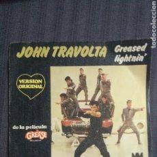 Discos de vinilo: JOHN TRAVOLTA. GREASED LIGHTNIN VINILO. Lote 208236980