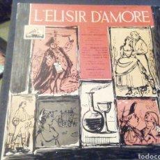 Discos de vinilo: L'ELISIR D'AMORE. GABRIEL SANTINI. VINILO.. Lote 208241373