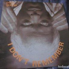 Discos de vinilo: PETER GABRIEL - I DON'T REMEMBER - MX - EDICION DEL AÑO 1983. Lote 208248991