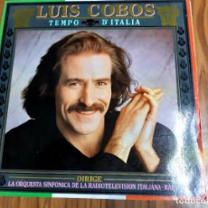 Discos de vinilo: LUIS COBOS CON LA ORQUESTA DE LA RADIOTELEVISION ITALIANA - TEMPO D'ITALIA (SPAIN, CBS 1987). Lote 208249923