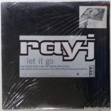 "Discos de vinilo: RAY-J - LET IT GO (LOSE CONTROL REMIX) [[[ VINILO MX 12"" 45RPM ]]] [[ 1996 ]] [ FUNK SOUL RAP ]]. Lote 208286443"