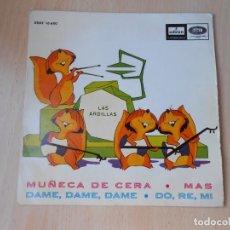 Discos de vinilo: ARDILLAS, LAS, EP, MUÑECA DE CERA + 3, AÑO 1965. Lote 208301472