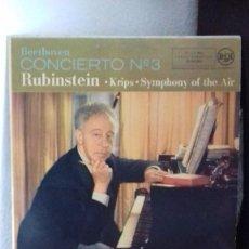 Dischi in vinile: BEETHOVEN CONCIERTO Nº3 RUBINSTEIN 1958 ESPAÑA LP (ESTA PROBADO) Nº8-S,B. Lote 208322358